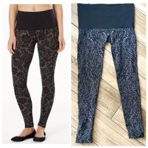 Soma slimming lace tapestry leggings black gray